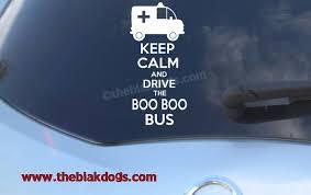 Keep Calm And Drive The Boo Boo Bus Vinyl Sticker Car Decal Blakdogs Vinyl Designs