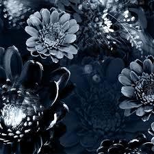 moonlight meadow blue vinyl wallpaper
