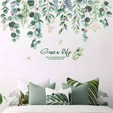 Amazon Com Llydd Leaf Wall Sticker Tree Leaves Wall Stickers Decal Art Decor Peel And Stick Self Adhesive For Living Room Bedroom Kitchen Playroom Nursery Room Arts Crafts Sewing