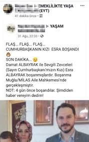 Esra Albayrak ve Berat Albayrak boşandı iddiası