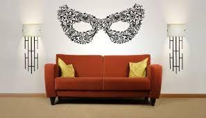 Wall Vinyl Sticker Room Decals Mural Design Art Floral Mask Carnival Bo1118 Ebay