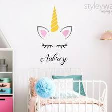 Unicorn Wall Decal Confetti Wall Decal Unicorn Wall Sticker Etsy