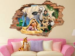 Tangled 3d Wall Decal Disney Wall Sticker Removable Vinyl Etsy