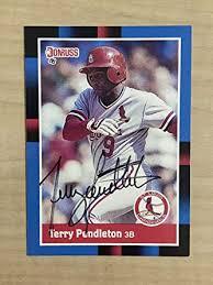 Amazon.com: TERRY PENDLETON ST LOUIS CARDINALS SIGNED 1988 DONRUSS CARD  #454 W/COA: Collectibles & Fine Art