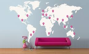 Extra Large World Map 4 X 2 3m 13 X 7 5ft Vinyl Wall Sticker Etsy World Map Wall Decor World Map Wall Decal Map Wall Decor