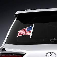 American Flag Waving Sticker