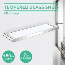 glass shelf wall mounted shower storage