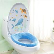Under The Sea World Toilet Seat Shark Turtle Toilet Stickers Wall Sticker Vinyl Art Decal Wallpaper Bathroom Decoration Wish