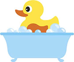 Amazon Com Baby Bubble Bath Time Rubber Ducky Vinyl Decal Sticker 8 Wide Bath Tub Arts Crafts Sewing