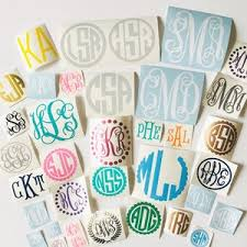 Monogram Decal Etsy