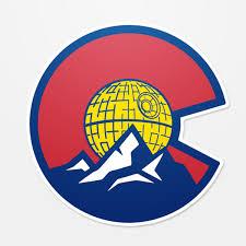 Colorado Death Star Sticker Star Wars Sticker Colorado Flag Sticker Colorado Decal