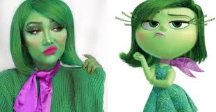 makeup artist transforms herself into