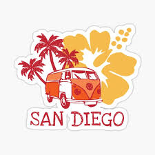 San Diego Stickers Redbubble
