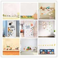 Cartoon Forest Farm Animal Baseboard Wall Sticker Kids Room Living Room Bedroom Background Mural Home Decor Diy Sticker Wall Stickers Aliexpress