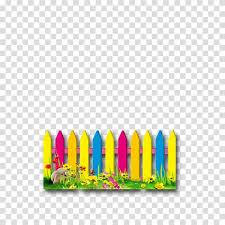 Multicolored Wooden Fence And Flowers Art Picket Fence Flower Garden Color Cartoon Fence Transparent Background Png Clipart Hiclipart