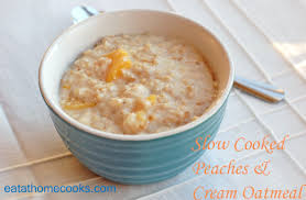 slow cooked peaches and cream oatmeal