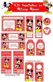 Kit Imprimible De Mickey Mouse Rojo 26 00 En Mercadolibre