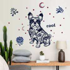 China Sk7125 Fashion Dog Silhouette Wall Sticker China Window Sticker And Home Decoration Price