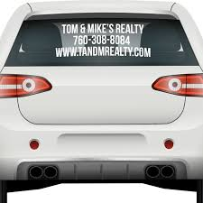 3 Line Back Window Decal Usdot Number Stickers