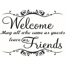 Amazon Com Winomo Welcome Friends Quotes Wall Decals Removable Pvc Vinyl Stickers For Living Room Home Kitchen