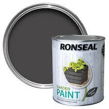 Ronseal Garden Charcoal Grey Matt Metal Wood Paint 0 75l Departments Diy At B Q
