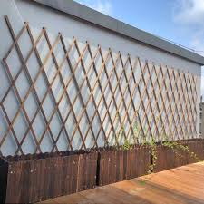 Wooden Fence Fence Outdoor Balcony Anticorrosive Guardrail Garden Fence Courtyard Decoration Grid Flower Stand Outdoor Climbing Stand