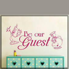 Be Our Guest Beauty And The Beast Inspired Wall Sticker Wall Chick Decal Art Sti