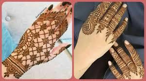 khafif mehndi design simple fingers