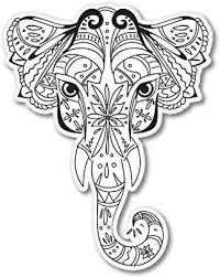 Amazon Com Ak Wall Art Elephant Vinyl Sticker Car Phone Helmet Select Size Home Kitchen