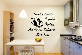 Travel Wall Decal Mark Twain Quote Travel Lovers Gift Mark Twain Art Travel Wall Art Travel Wall Decor