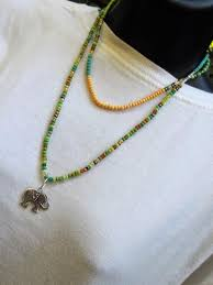 layered and long boho beaded necklace