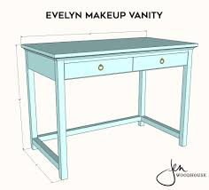 diy makeup vanity plans by jen