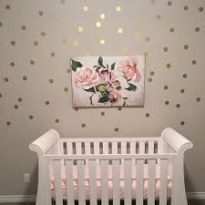 Metallic Gold Polka Dot Wall Decal Silver Dots Nursery Wall Etsy