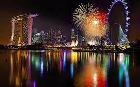 wallpaper cityscape night singapore