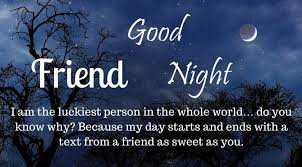 heart touching good night messages for best friend images