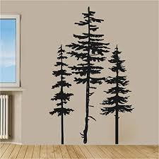 Amazon Com Pine Trees Set Of Three Vinyl Home Decor Wall Decal Sticker Handmade