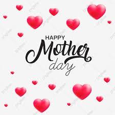 سعيد عيد الأم و خلفيات قلوب حمراء خلاصة الخلفية راية Png