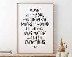 Music Gives A Soul Etsy