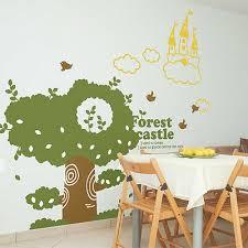 Nursery Wall Decal Sticker Tree Green Kids Playroom Wall Decor Castle Removable Ebay