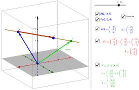 vector equation of a line 3d geogebra