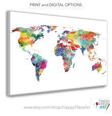 Colorful Art Maps Happyplaceart