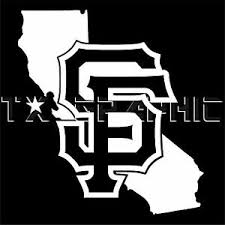 Decal For Sf San Francisco Giants The State Of California Vinyl Sticker Ebay