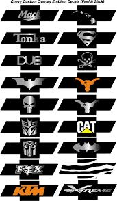 Chevy Bowtie Emblem Overlay Decals Sticker Wraps Bowtie Decals Bowtie Stickers Chevy Bowtie Wraps Chevy Bowtie Stickers Punisher Wraps Chevy Punisher Bowtie