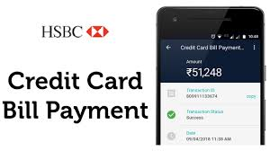 hsbc bank credit card bill payment in