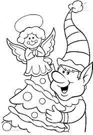 1001 Kleurplaten Kerst Elfjes Kerst Elf Kleurplaat