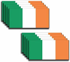 10 Pack Of New Irish Flag Vinyl Decal Country Stickers Car Truck 2 X 4 Low Priced Decals Lots Of Designs