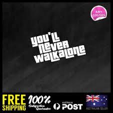 You Ll Never Walk Alone Liverpool Ynwa Rear Car Decal Vinyl Sticker 195x114mm Ebay