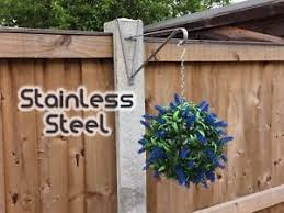 Stainless Steel Hanging Basket Brackets For Concrete Posts For 4 X 4 Deep Post Ebay