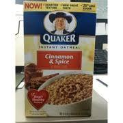 quaker instant oatmeal cinnamon