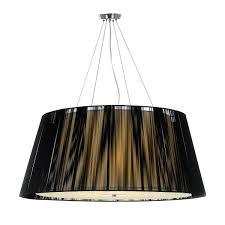 5 light pendant large black chloe pe90 bk